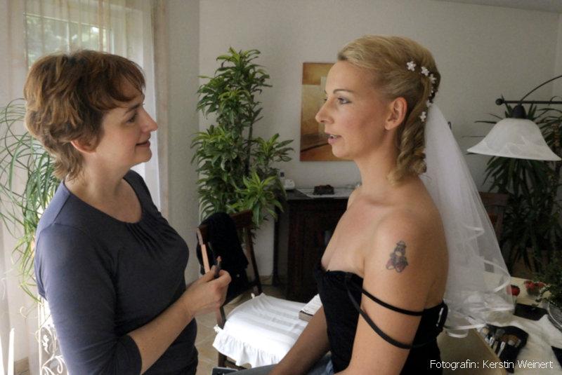 Brautprobe mit Visagistin